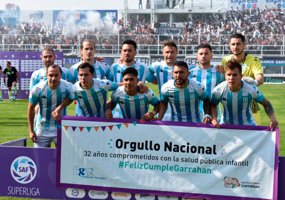 Racing Club saludó al hospital Garrahan en la Superliga.